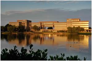 ADTRAN's corporate headquarters and manufacturing facility in Cummings Research Park, Huntsville