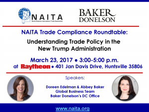 032317 TCR at Raytheon Baker Donelson Trade Policy Trump - Doreen Edelman & Abbey Baker