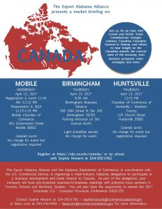 Canada Market Briefing @ Chamber of Commerce of Huntsville/Madison County