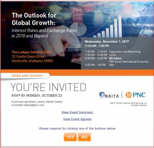 Outlook for Global Growth - 2018 & Beyond - PNC Bank 110117