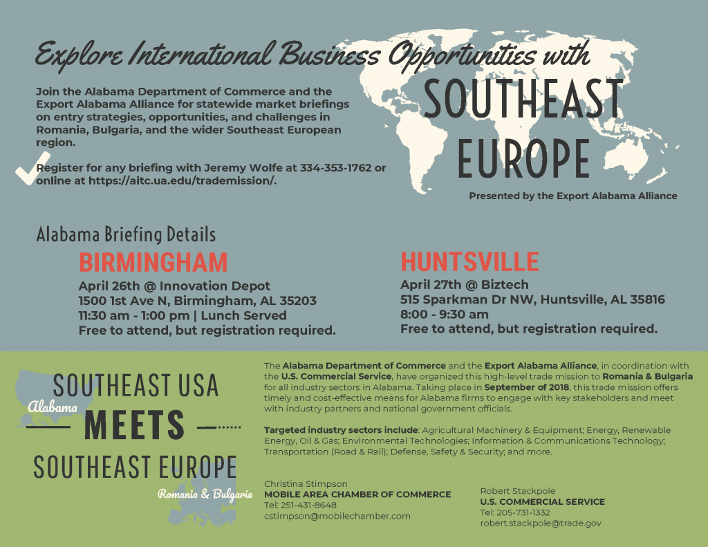 Southeast Europe Trade Mission Briefing | Romania & Bulgaria @ BizTech