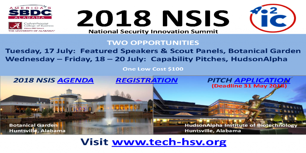National Security Innovation Summit @ Huntsville Botanical Garden & HudsonAlpha