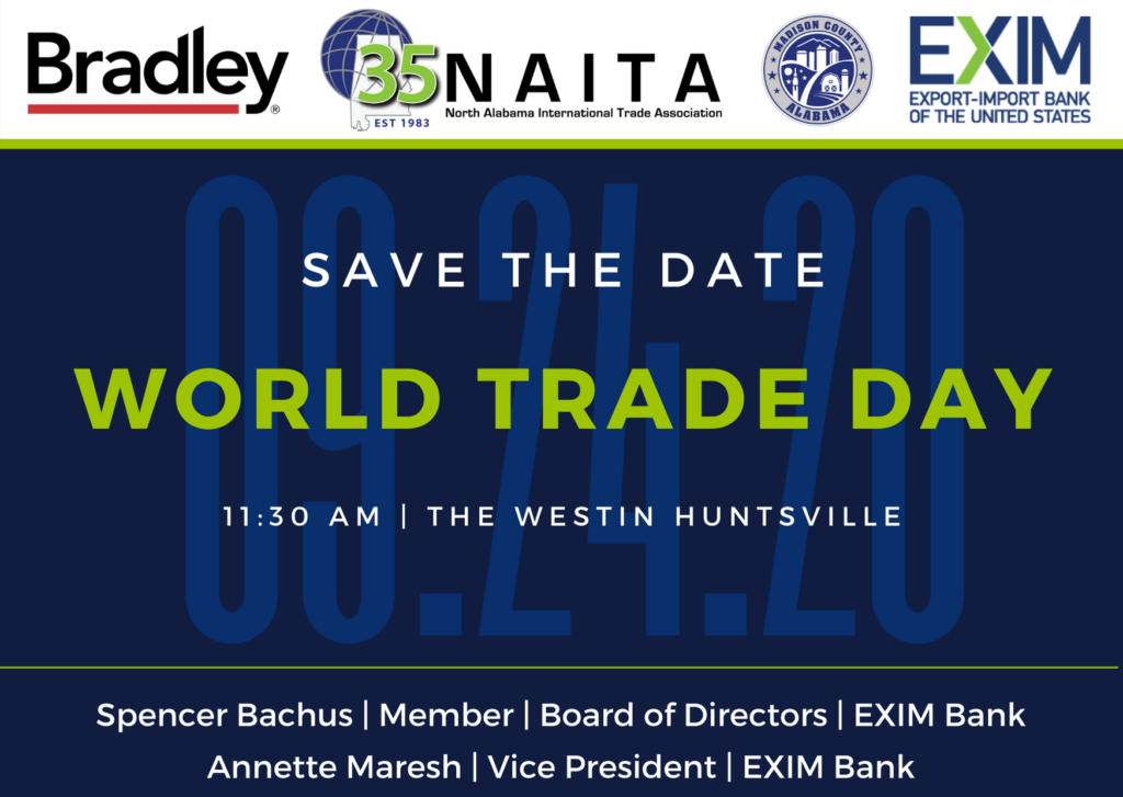 NAITA 37th Annual World Trade Day Luncheon @ The Westin Huntsville