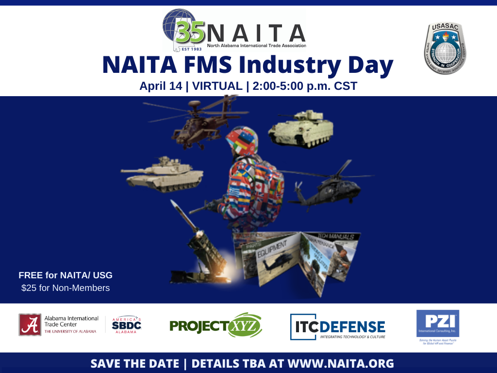 FMS Industry Day 2021 - Virtual - Featuring USASAC @ Virtual - Link Provided Upon Registration