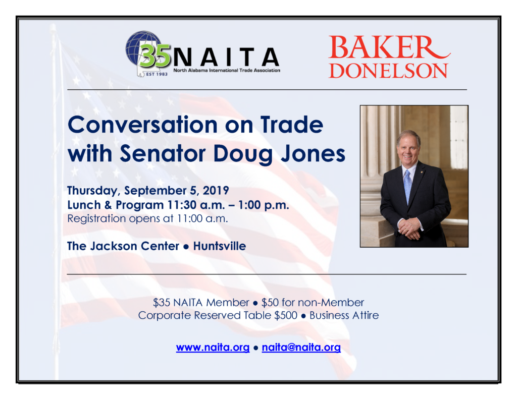 Conversation on Trade with Senator Doug Jones @ The Jackson Center