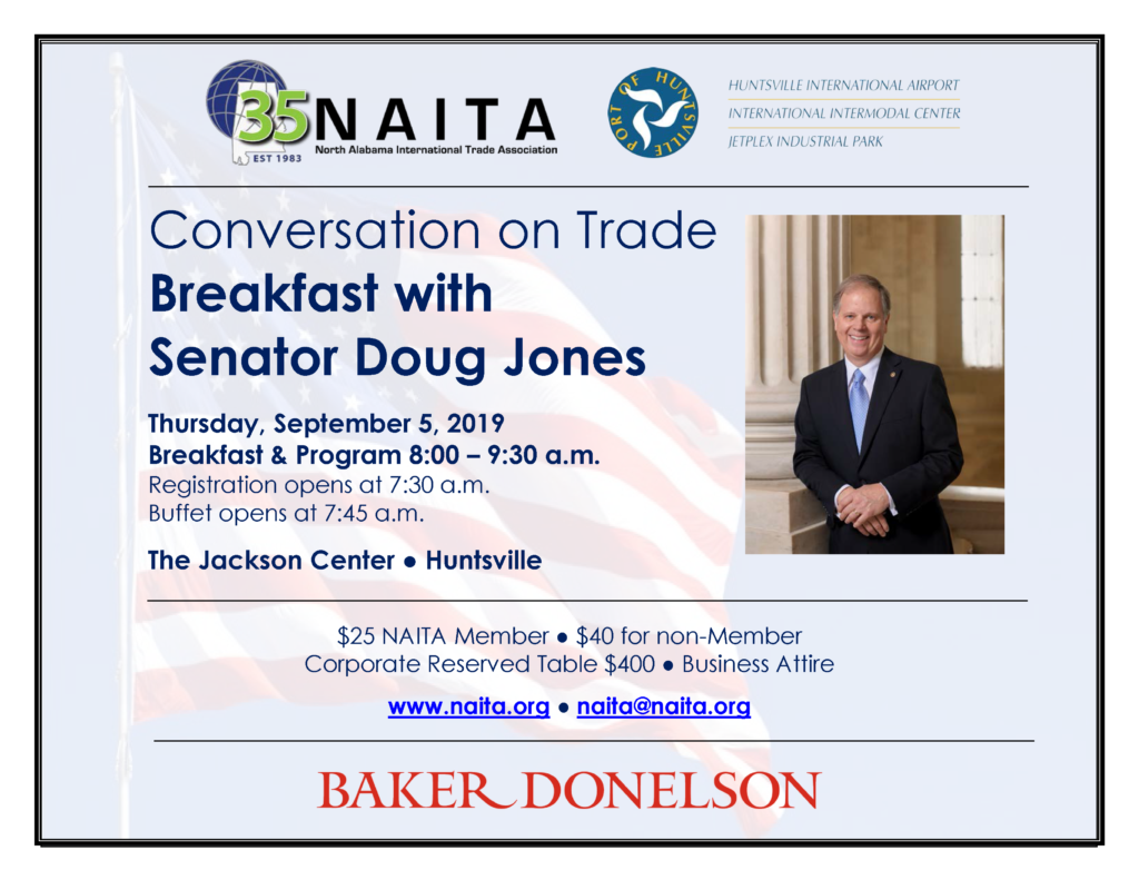 Conversation on Trade Breakfast with Senator Doug Jones @ The Jackson Center