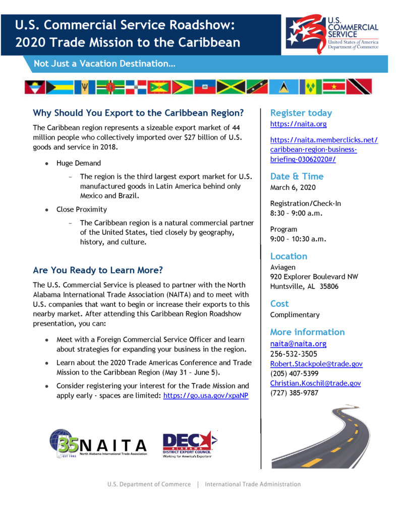 Caribbean Region Business Roadshow & U.S. Commercial Service Trade Mission to the Caribbean @ Aviagen, Inc.
