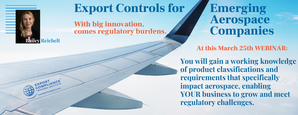 ECTI Export Controls for Emerging Aerospace Companies @ Webex