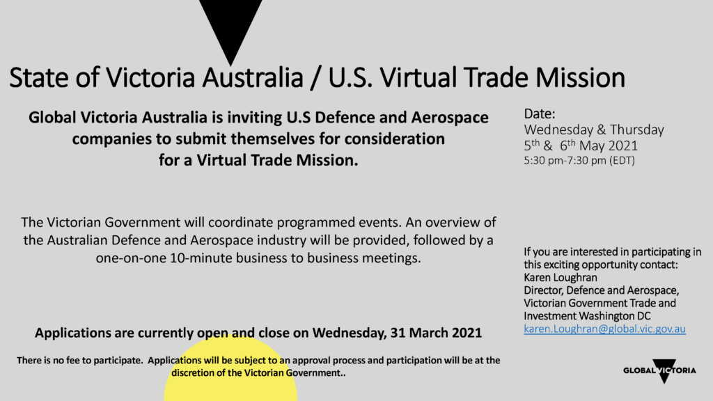 State of Victoria Australia/U.S. Virtual Trade Mission @ Virtual