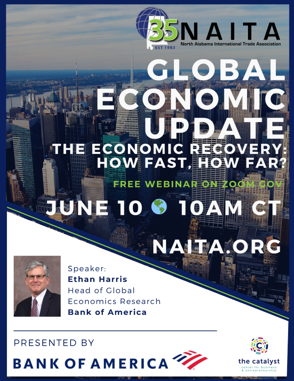 Global Economic Update Presented by Bank of America @ Virtual - ZoomGov - Link to be sent following registration